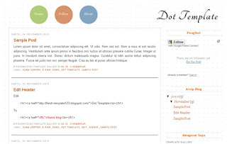Blogger Template – Dot