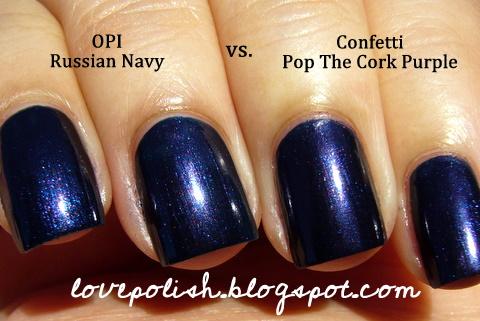 love polish: Confetti - Pop The Cork Purple (Russian Navy
