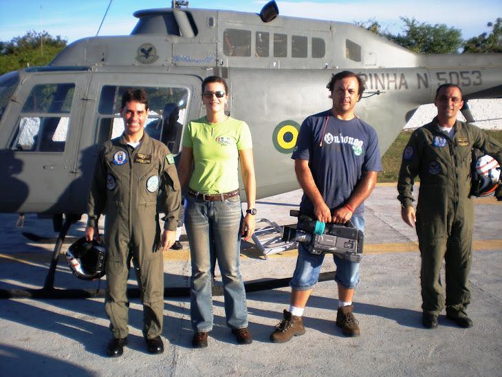 Gravação aérea com a Marinha do Brasil.