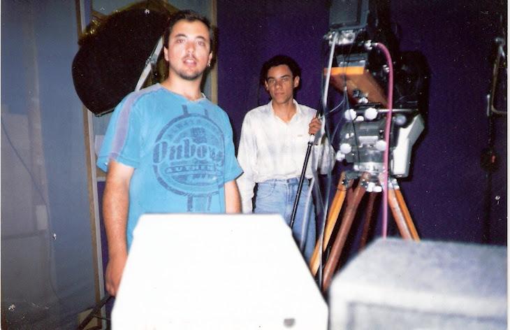 Produtora TVN, eu e o assistente Alessandro da Silva