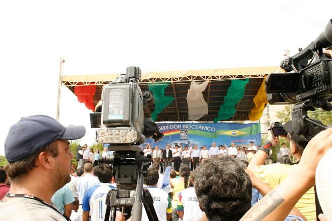 Gravação Lula e Evo  Morales...Bolívia