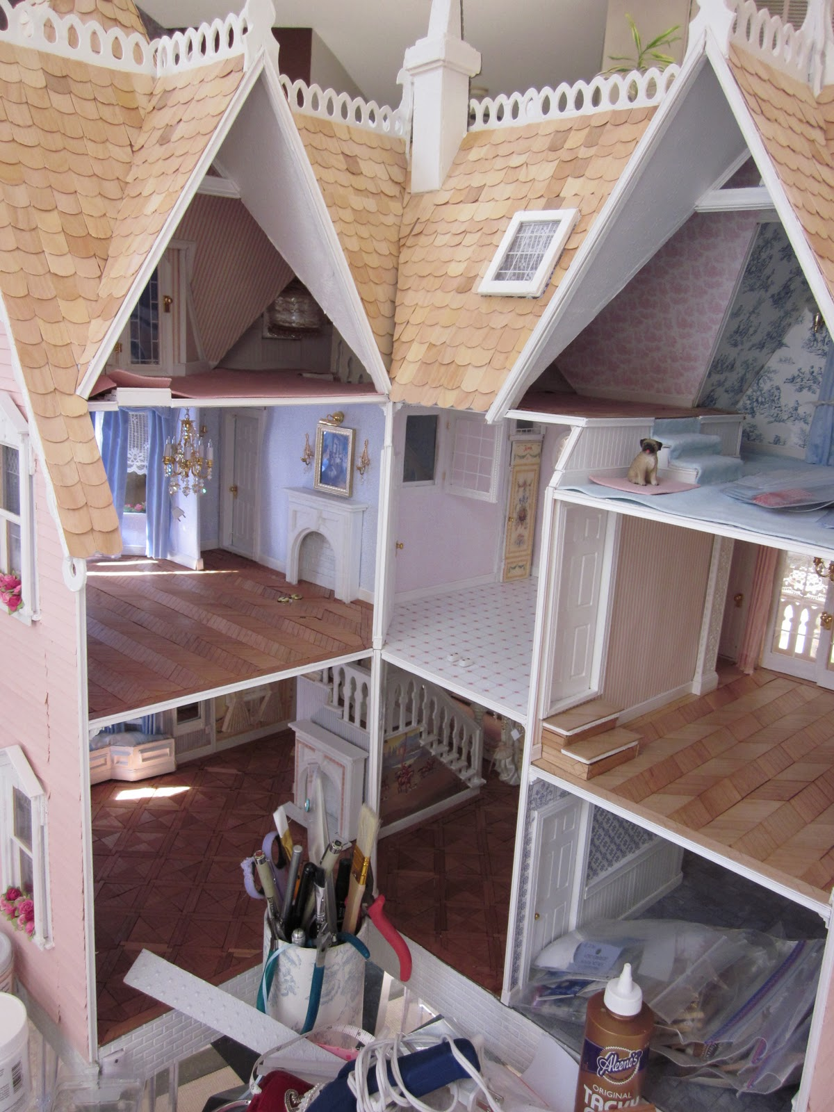 La Grande Maison The Greenleaf Garfield Dollhouse Parquet
