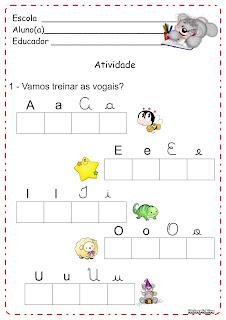 Atividade Vogais e Encontro Vocálico