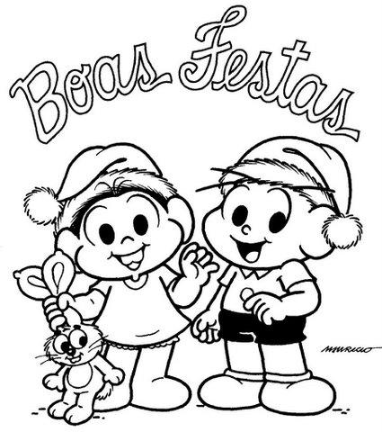 Desenhos da Turma da Mônica Natal