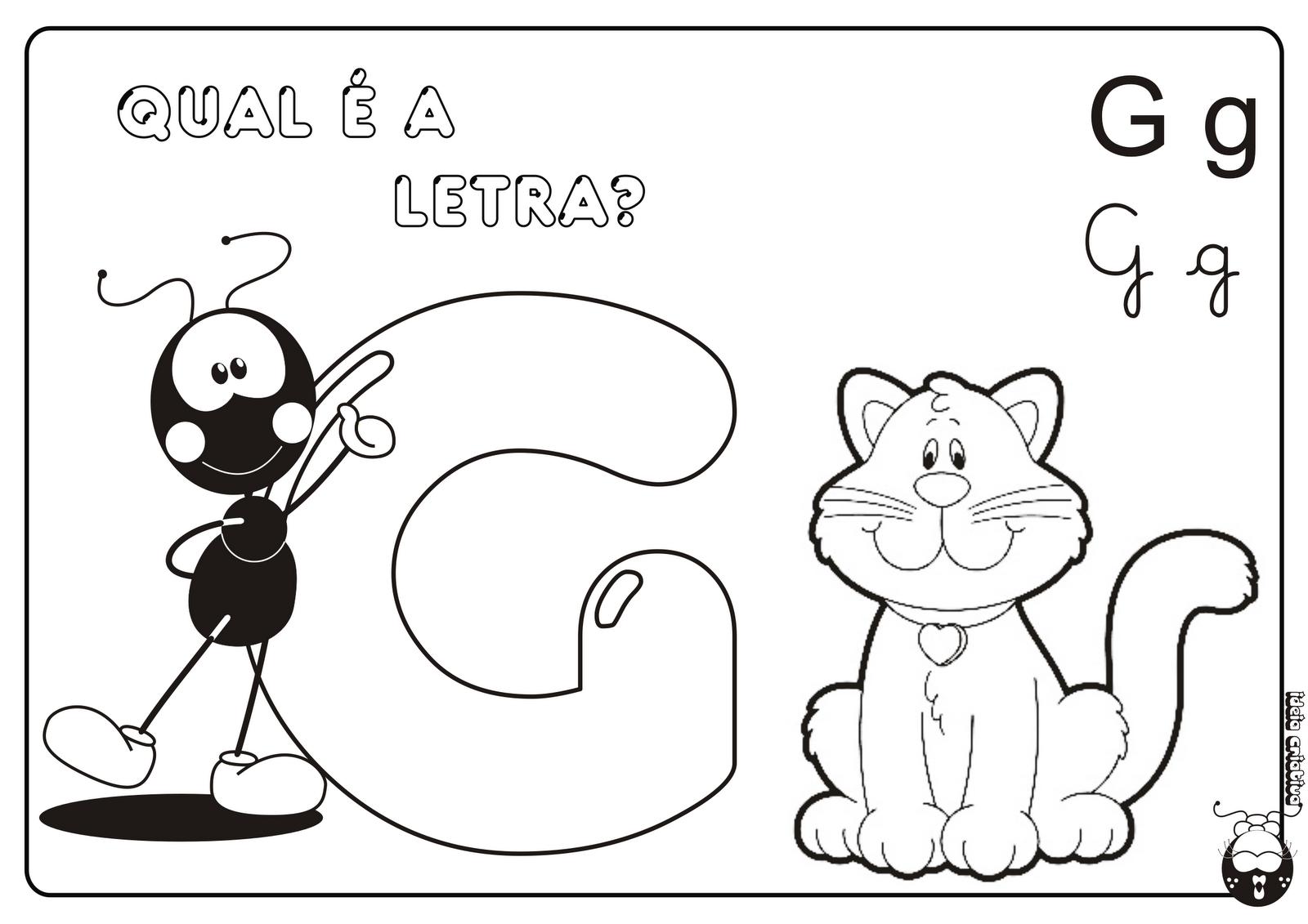 Alfabeto Smilinguido 4 tipos de letra para Baixar Grátis Letra G