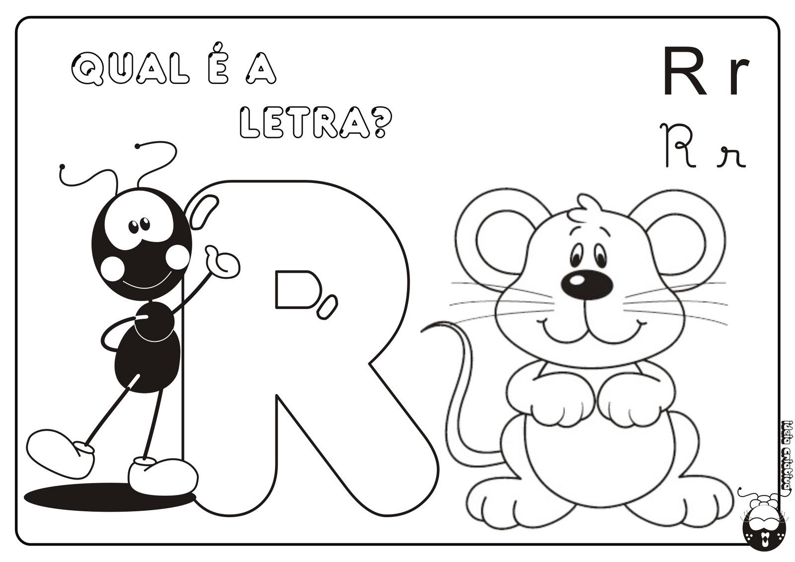 Alfabeto Smilinguido 4 tipos de letra para Baixar Grátis Letra r