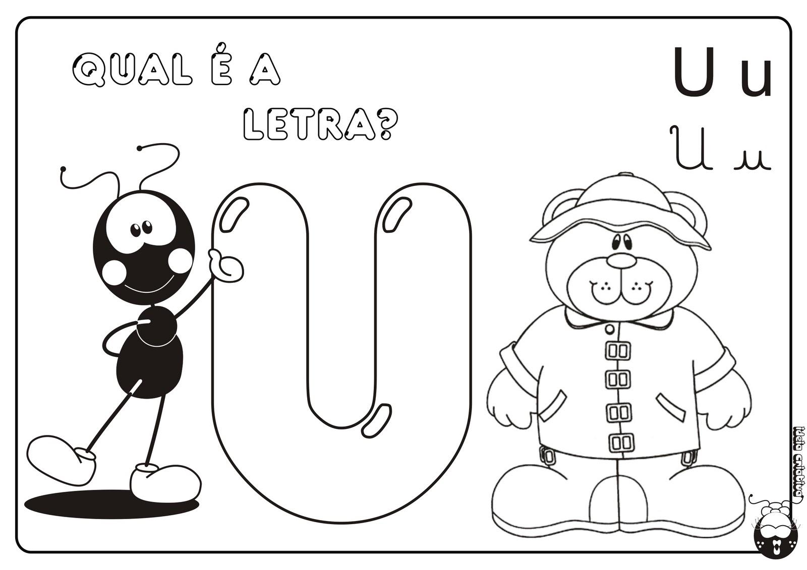 Alfabeto Smilinguido 4 tipos de letra para Baixar Grátis Letra u