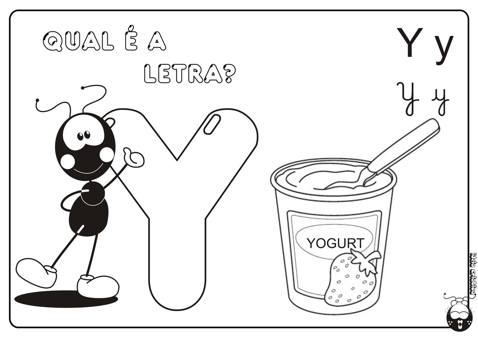 Alfabeto Smilinguido 4 tipos de letra para Baixar Grátis Letra y