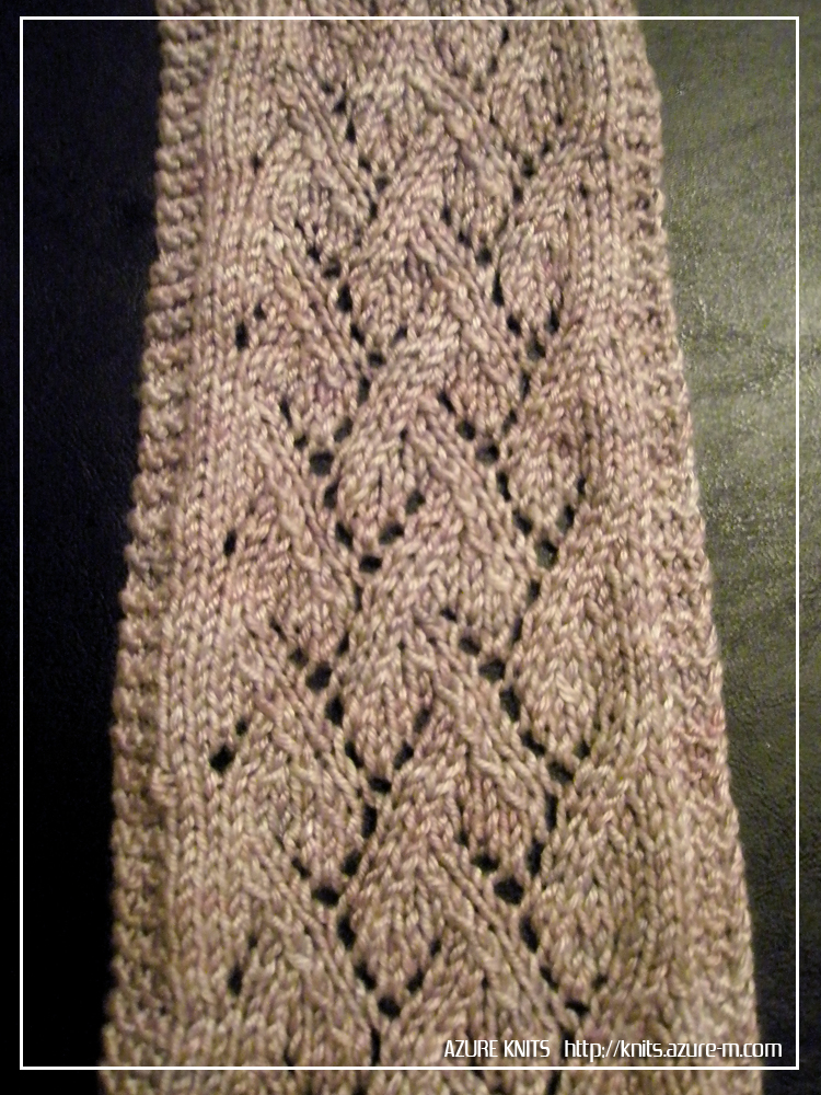Free Lace Knitting Patterns For Scarves : AZURE KNITS BLOG: Free Pattern! Grapevine Lace Scarf