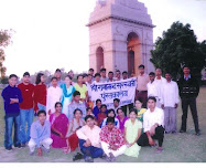 Boys and girls  of SRSP theatre group at India Gate New Delhi