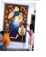 Mural painting workshop in pustkalaya