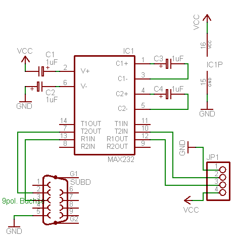ttl to rs232 adapter simple design electronic circuit schematic wiring diagram