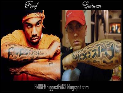 Eminem Slim Shady Marshall Mathers Iii Eminem Recuerda A Proof - Tatuajes-eminem