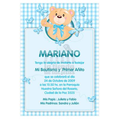 invitacin para cumpleaos y bautismo en tonos celestes para nio rosados para nia a eleccin opcional moo del oso en cinta beb