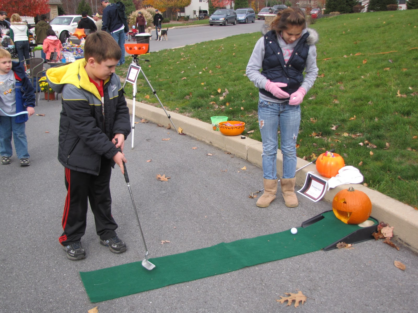 Uncategorized Pumpkin Golf community service halloween party game 2 pumpkin golf in it to get the prize for this you had ball mouth of alot children including mrs bomboys son lov