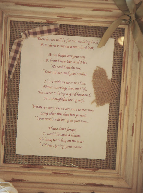 Here Is A Closeup Of The Wish Tree Poem
