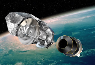 Artists's impression of Herschel being ejected from its protective shell after launch