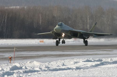 Sukhoi PAK-FA first flight