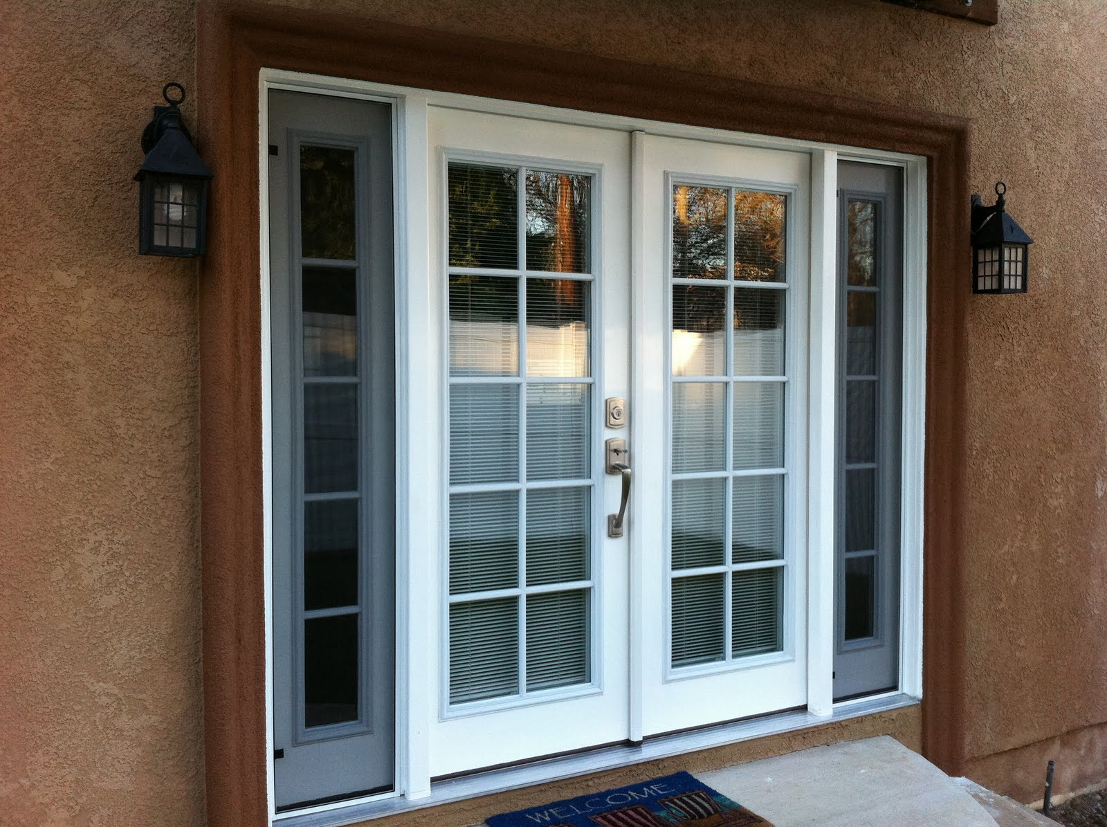 thb construction back door replaced with double french On double opening exterior french doors