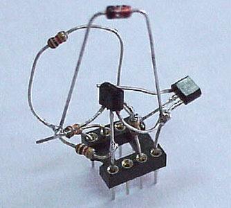 Simple RS 232 Level Converter using Transistors