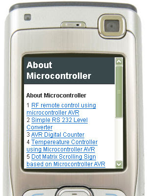 About Microcontroller Mobile Version