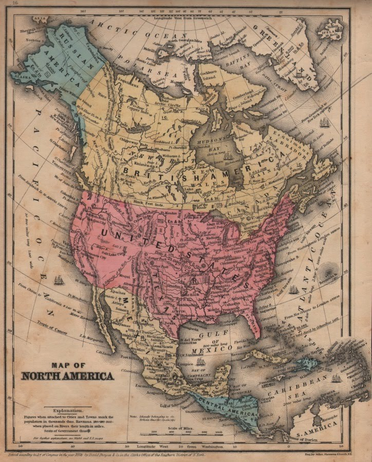 Antique Prints Blog Fun With Maps Of The American West