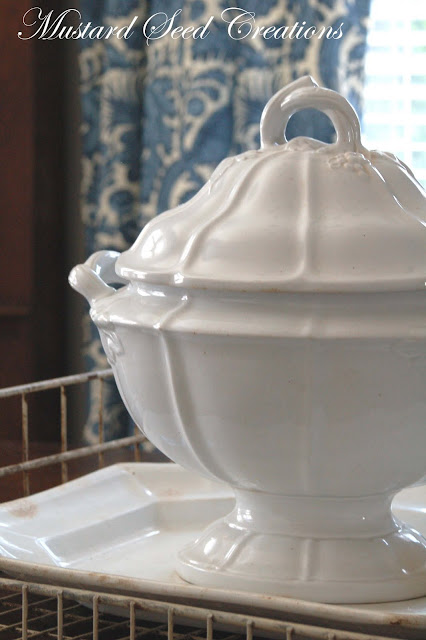 antique white ironstone soup tureen miss mustard seed