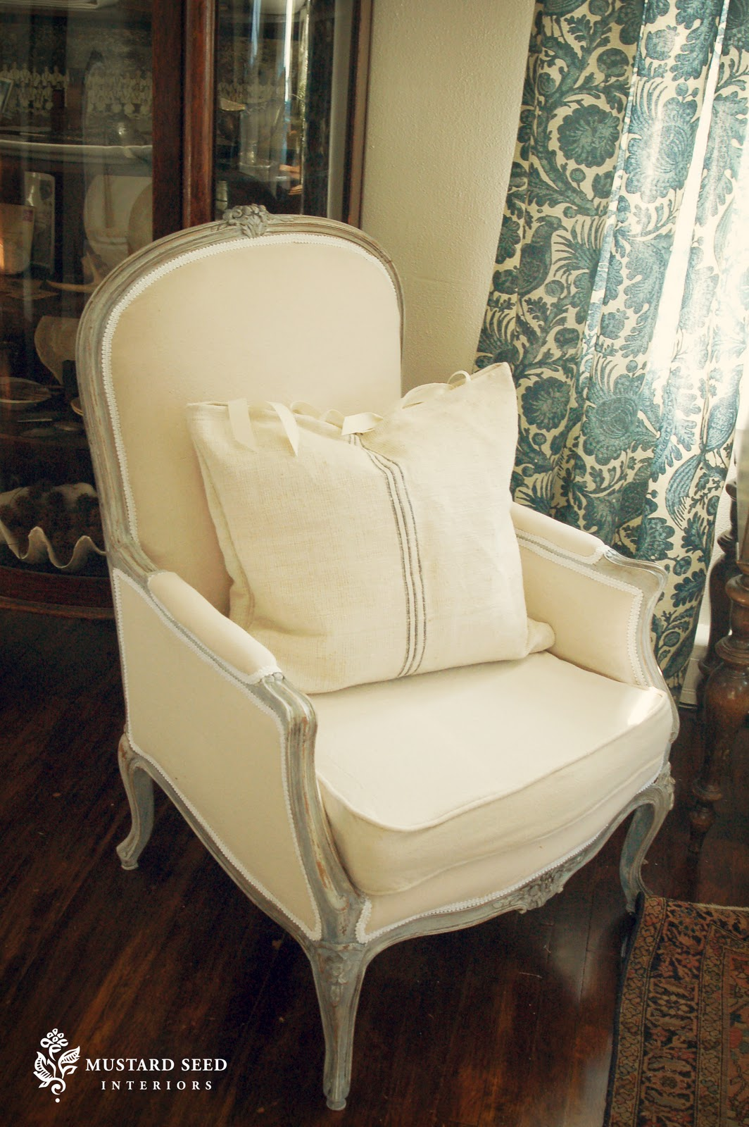 How to reupholster a louis chair - French Chair Makeover