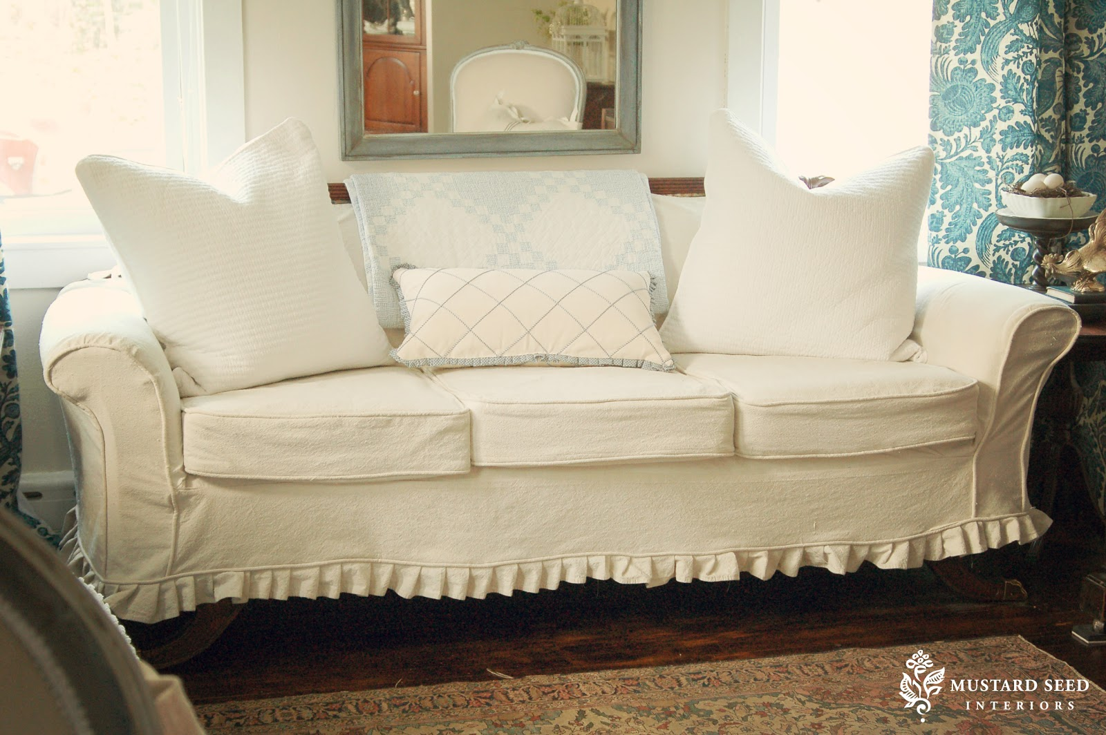 sofa transformation - miss mustard seed