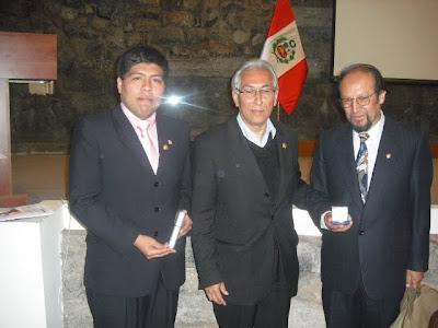 David Franco, Edgar Montiel y Oscar Paredes Pando tras reconocimiento de UNESCO a la organización del Congreso Internacional