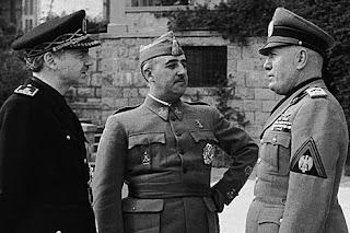 Serrano Suñer, Franco y Mussolini, en 1941. | Efe