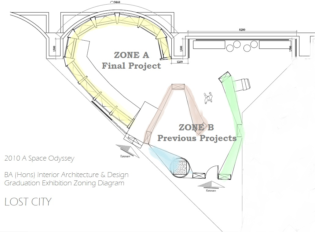 2010 A Space Odyssey Graduation Exhibition Zoning Diagram