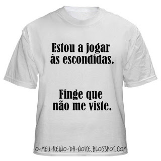 t-shirt t-shirts shirt shirts camisola camisolas funny tpm humor fun engraçado engracado wings asas weird karma escondidas hide and seek