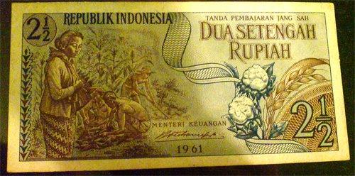 seri 2,5 rupiah tahun 1961