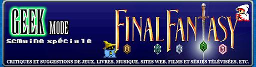 Bannière de la semaine spéciale Final Fantasy