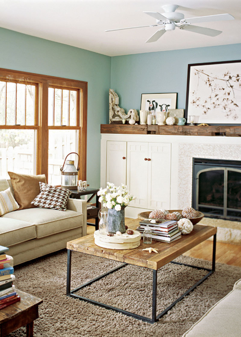 Living Room Wall Colors with Wood Trim