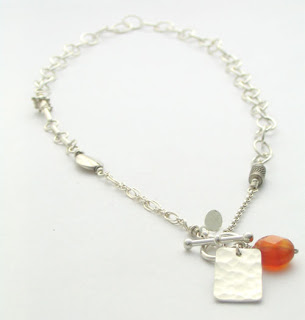 carnelian and sterling silver