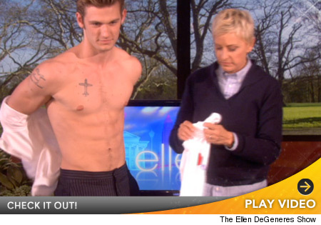 Alex Pettyfer Strip For Ellen Degeneres