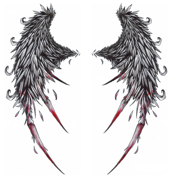 Broken Angel Wings Tattoo Designs http://mybesttattoos.blogspot.com/2010/01/broken-wings-angel-tattoos-desaign.html