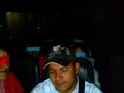 Actividad en el bus, en el momento en el que nos dirijiamos hacia caucasia
