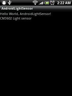 Get Light Sensor of HTC wildfire