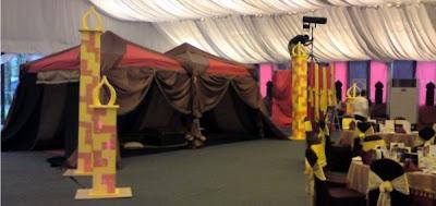 Weird art youth arts arabian nite theme party for Arabian tent decoration