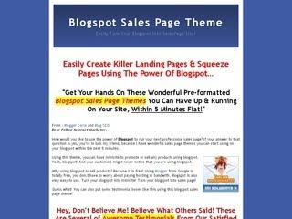 Blogspot Salespage Theme - Zhu Template