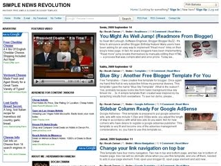 Blogger Template - Simple News Revolution