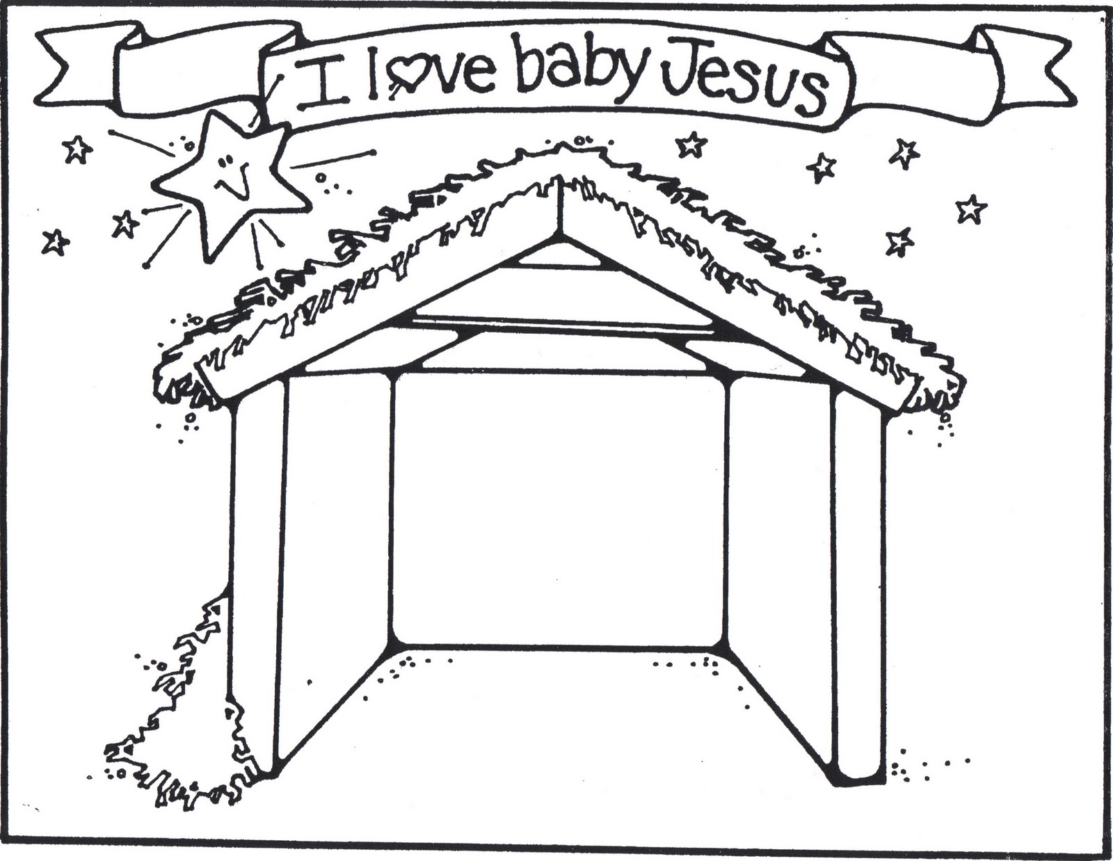 empty manger coloring pages - photo#26