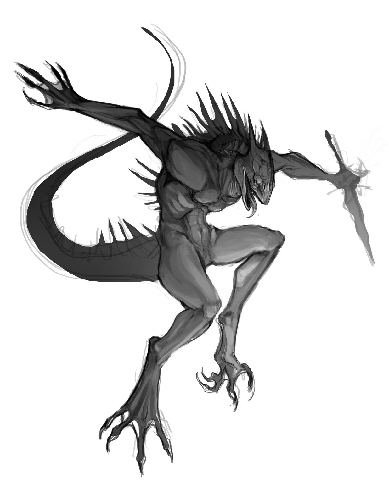 Irix - The MoonShadow Lizardman-sketch