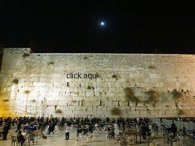 Click na foto do Muro das Lamentações e veja  ao vivo de Jerusalém