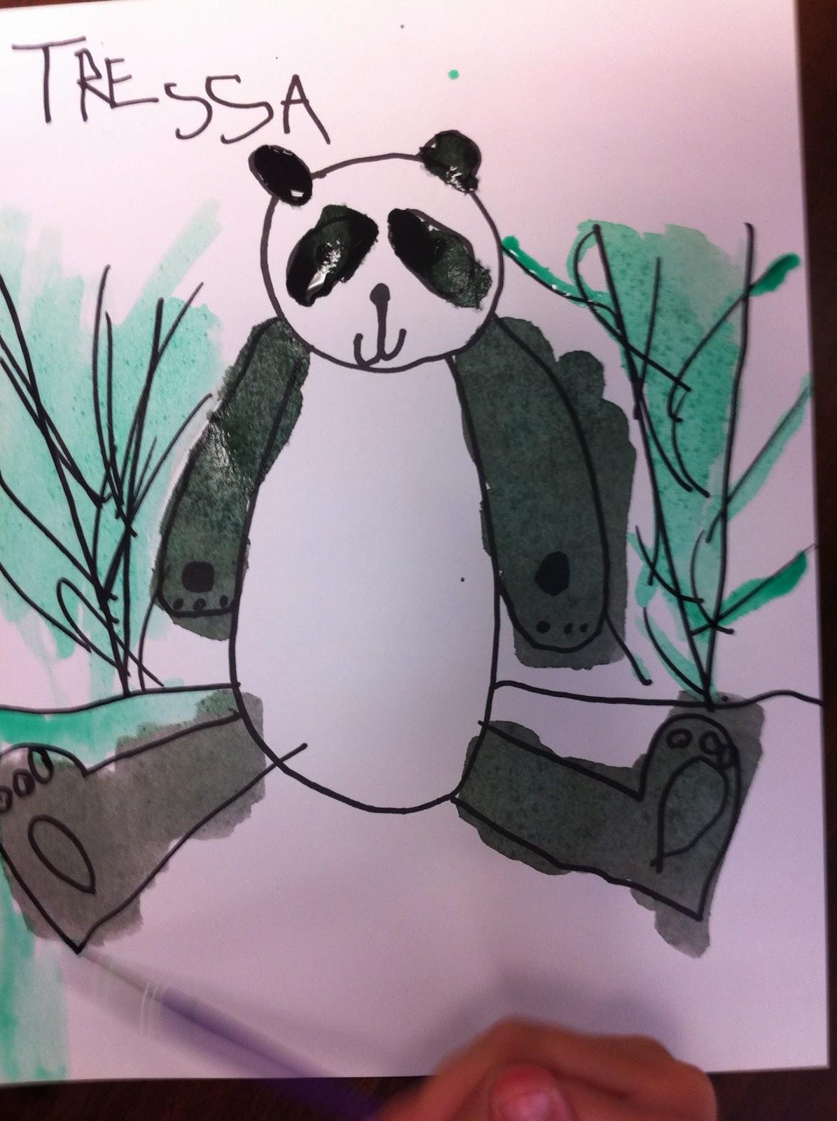 How to Draw a Panda Bear - Fairy Dust Teaching - photo#7