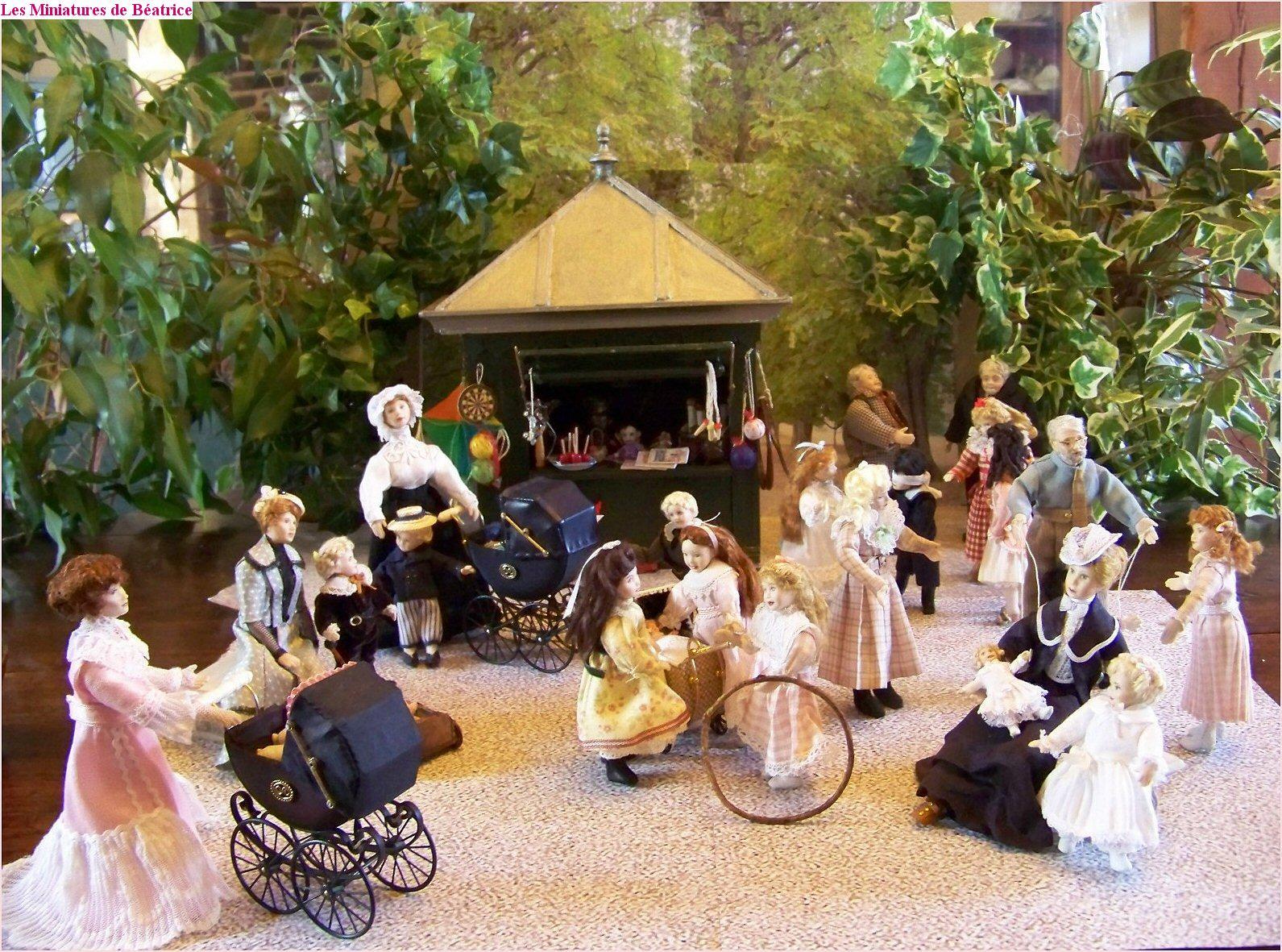 Les miniatures de b atrice le jardin du luxembourg en 1900 - Le jardin gourmand luxembourg ...