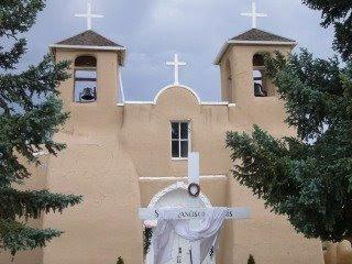 photograph of the San Francisco de Asis Church near Taos, New Mexico